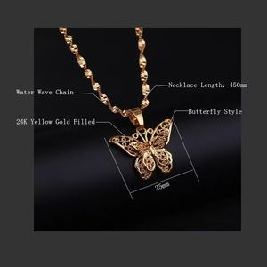 Luxury 24k gold filled  butterfly necklace